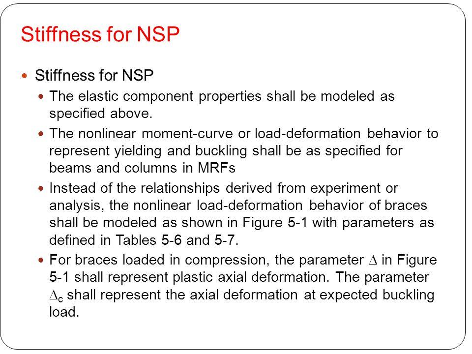 Stiffness for NSP Stiffness for NSP