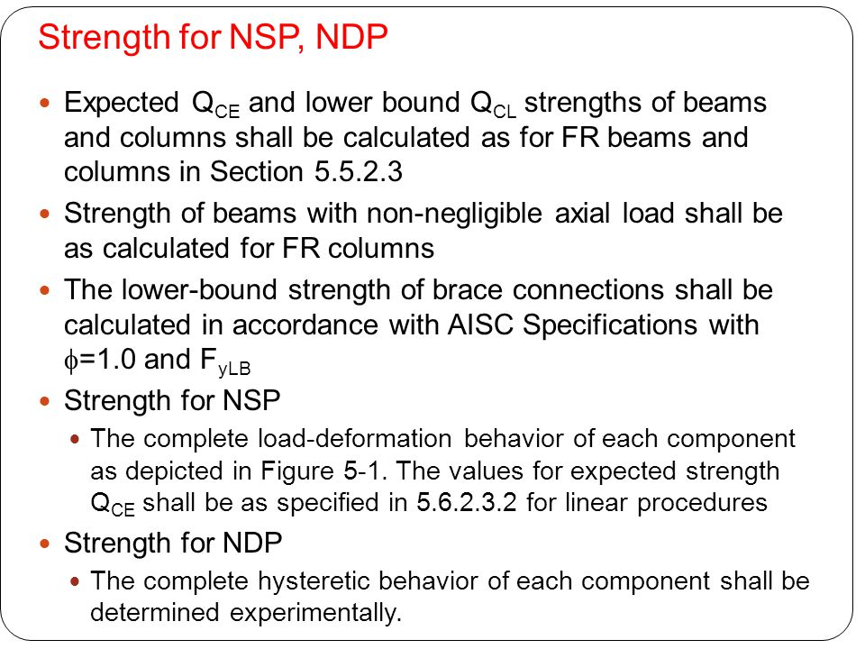 Strength for NSP, NDP
