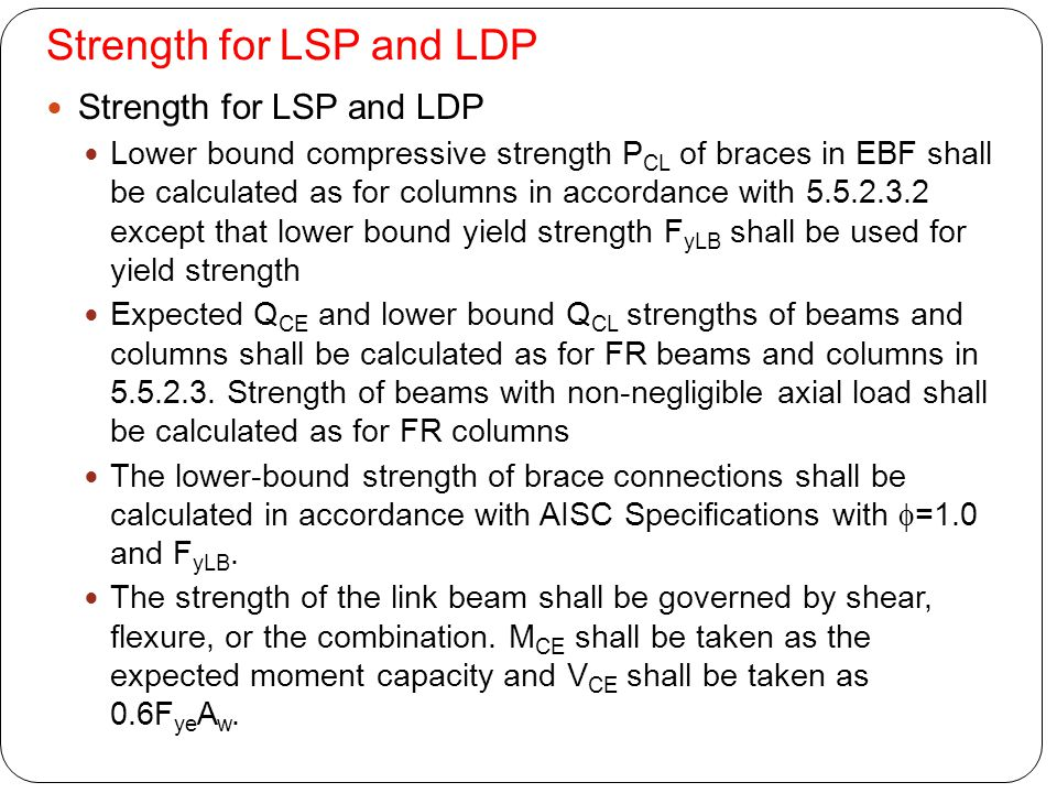 Strength for LSP and LDP