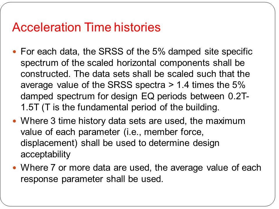 Acceleration Time histories