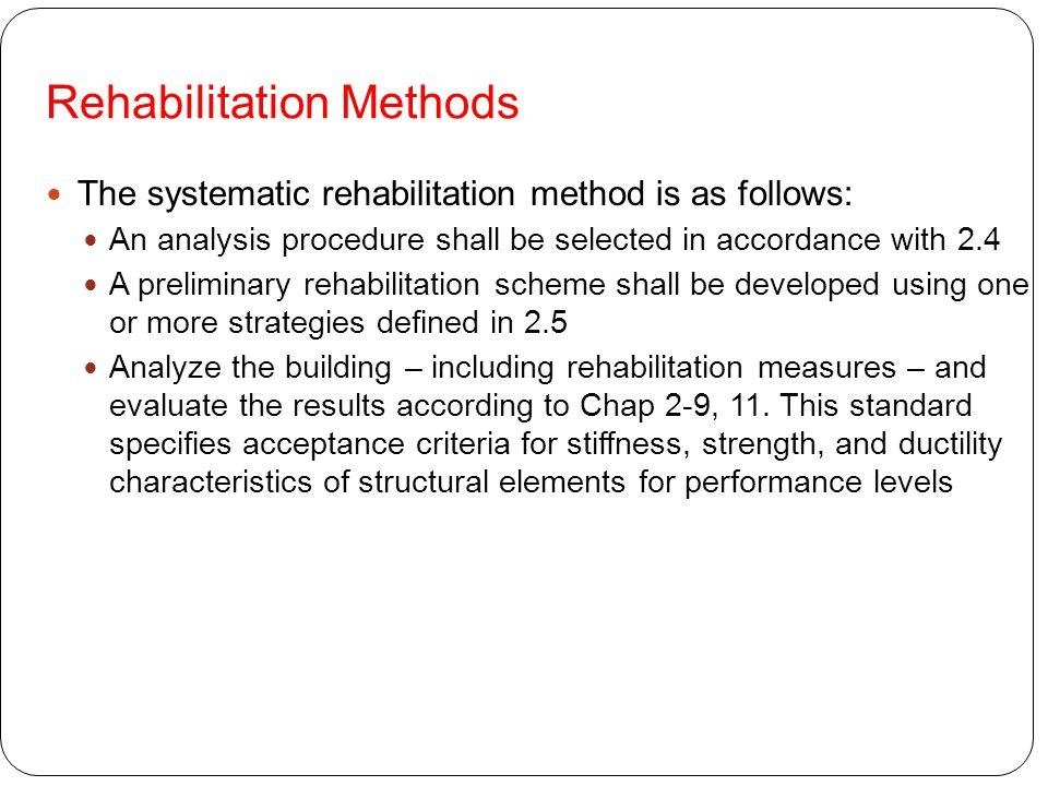 Rehabilitation Methods