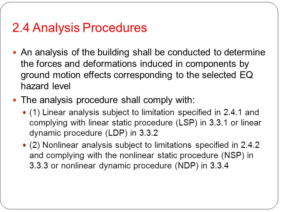 2.4 Analysis Procedures