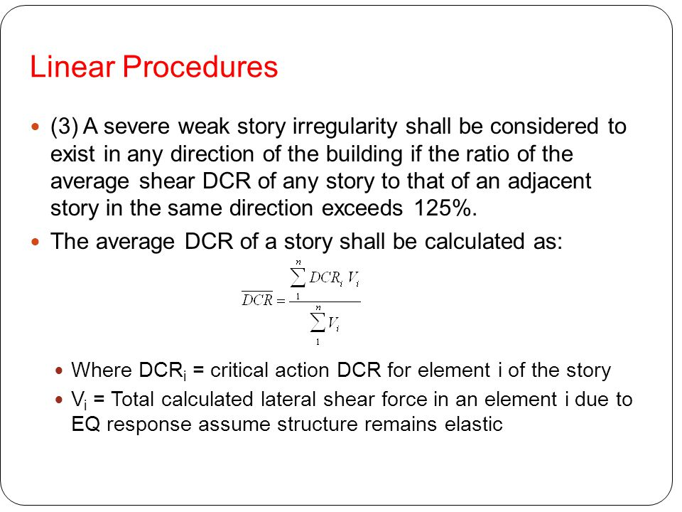 Linear Procedures