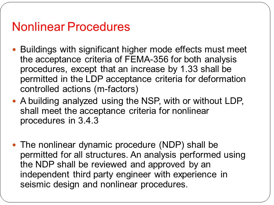 Nonlinear Procedures