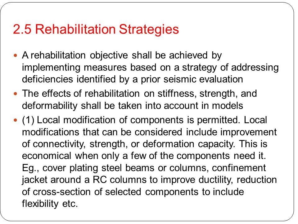 2.5 Rehabilitation Strategies
