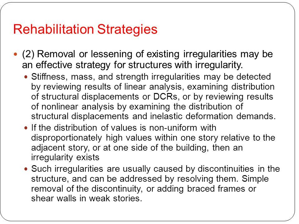 Rehabilitation Strategies