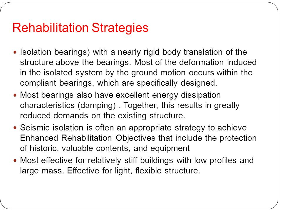 Rehabilitation Strategies