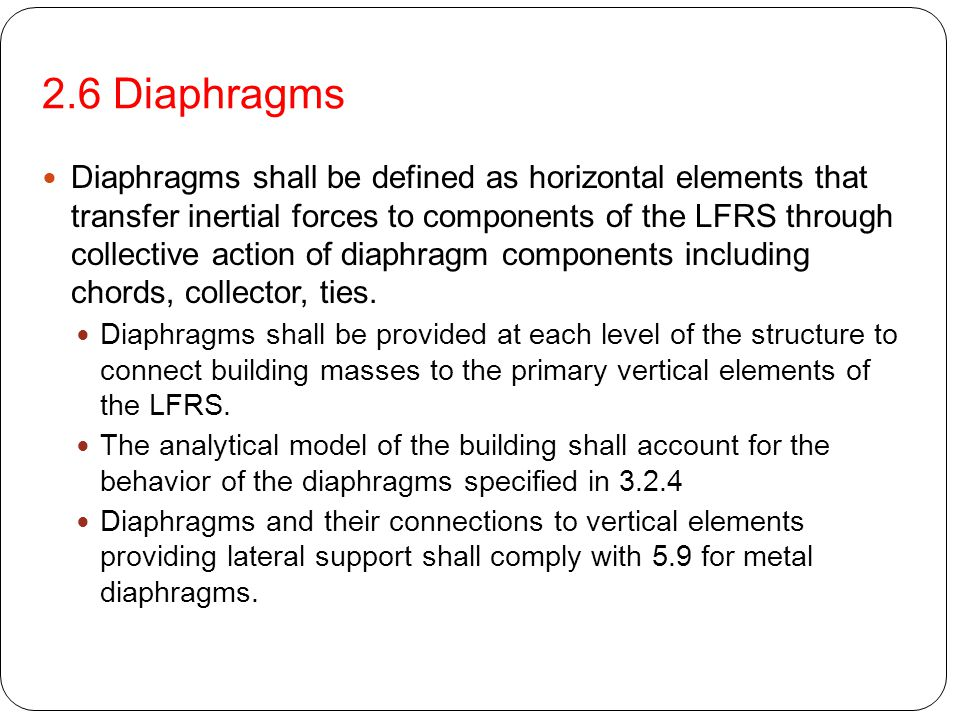 2.6 Diaphragms