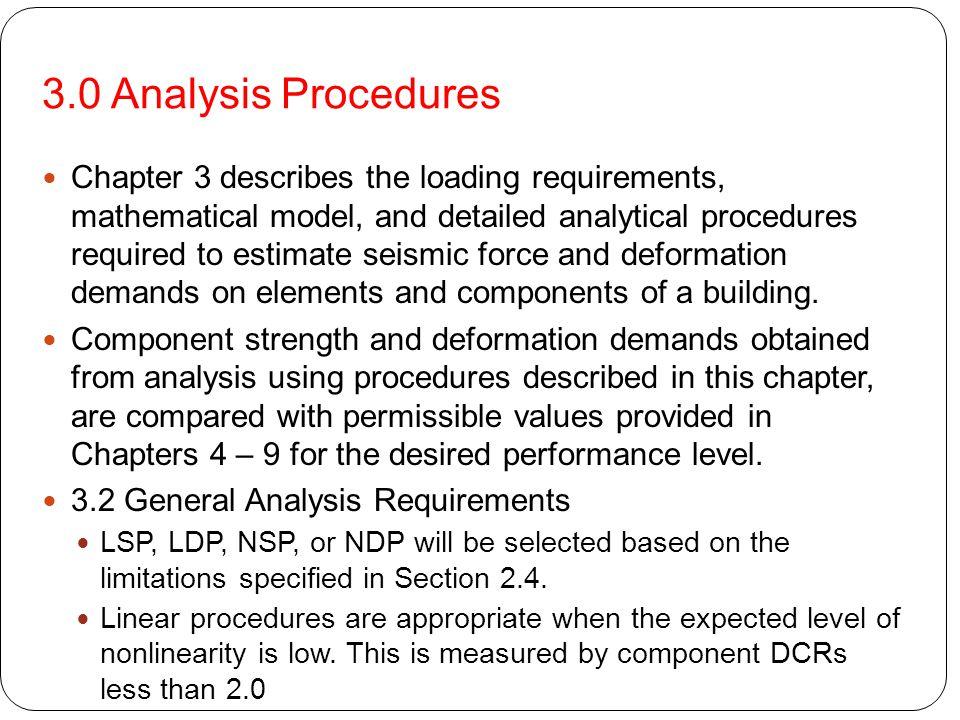 3.0 Analysis Procedures