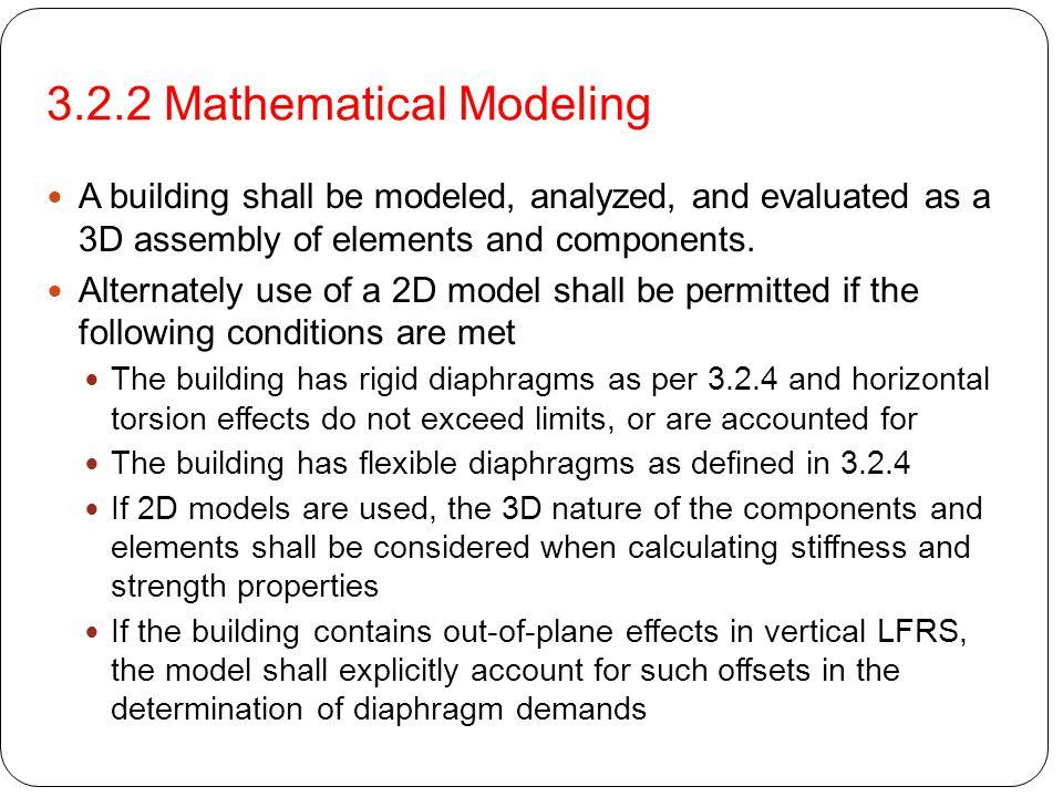 3.2.2 Mathematical Modeling