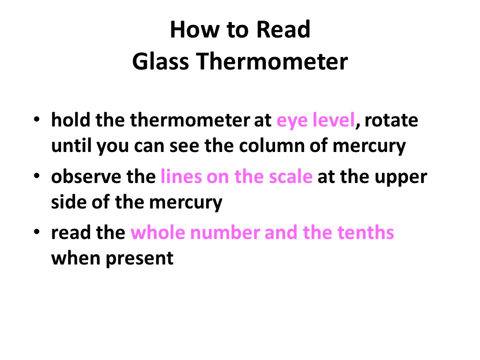 How to Read Glass Thermometer
