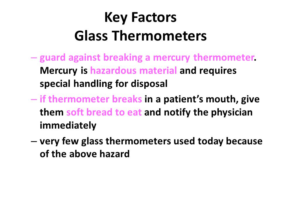 Key Factors Glass Thermometers