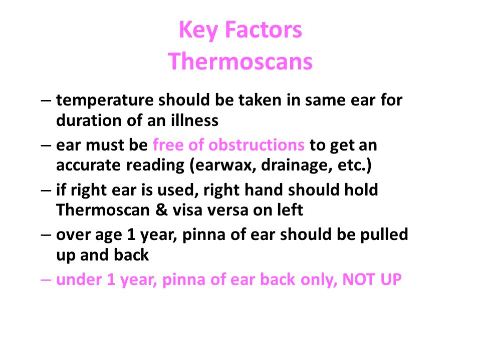 Key Factors Thermoscans