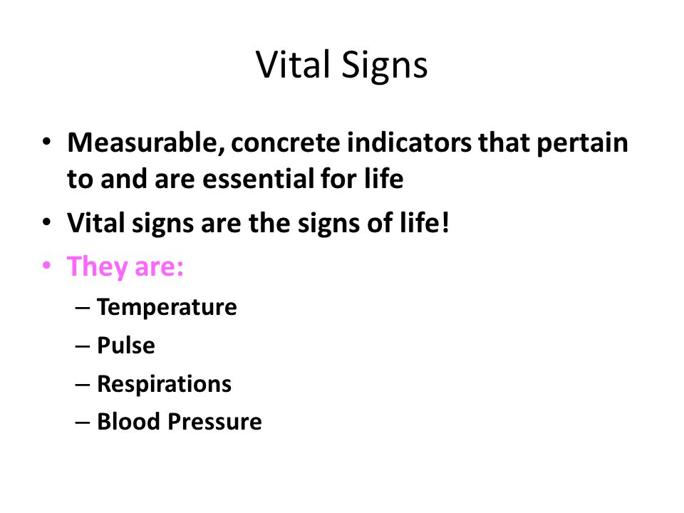 Vital Signs Characteristics and Norms - ppt video online download