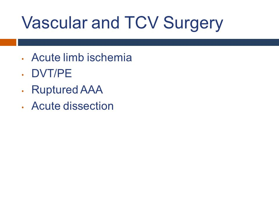 Vascular and TCV Surgery