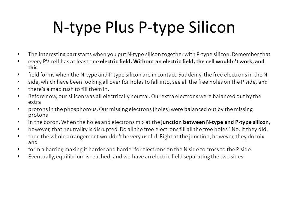 N-type Plus P-type Silicon