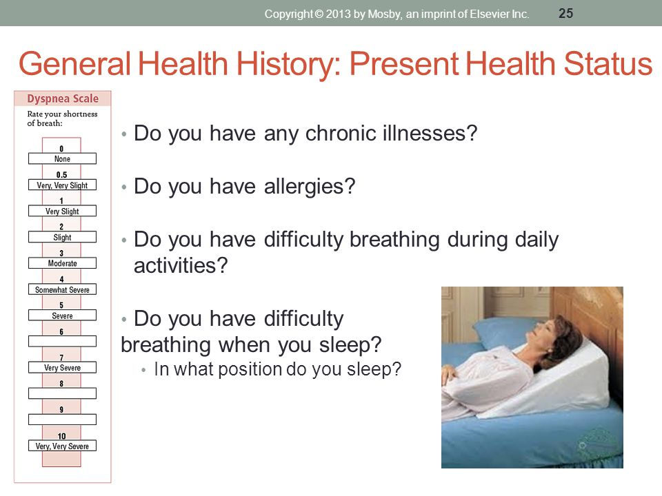 General Health History: Present Health Status