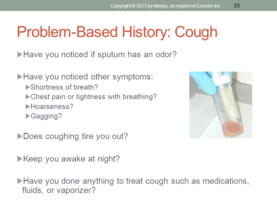 Problem-Based History: Cough