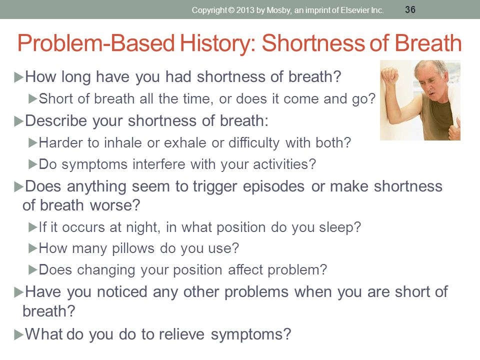 Problem-Based History: Shortness of Breath