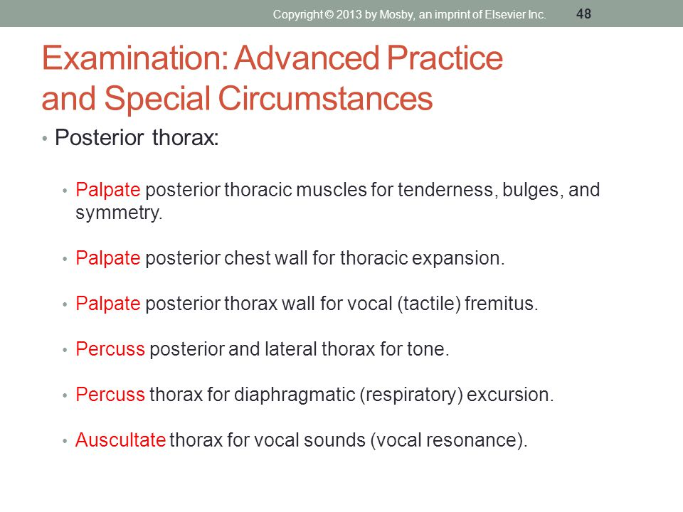 Examination: Advanced Practice and Special Circumstances