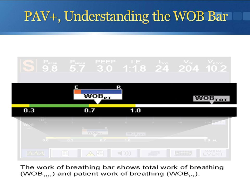 PAV+, Understanding the WOB Bar