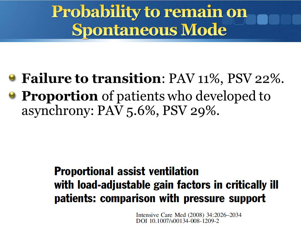 Probability to remain on Spontaneous Mode