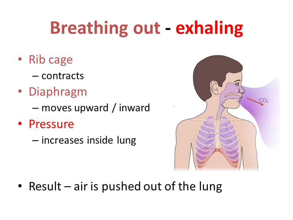 Breathing out - exhaling