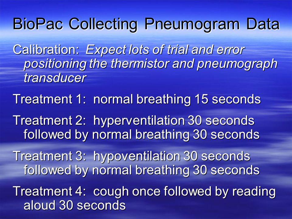 BioPac Collecting Pneumogram Data