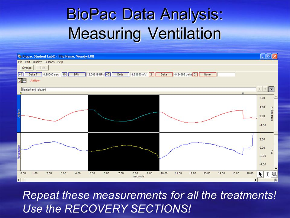 BioPac Data Analysis: Measuring Ventilation