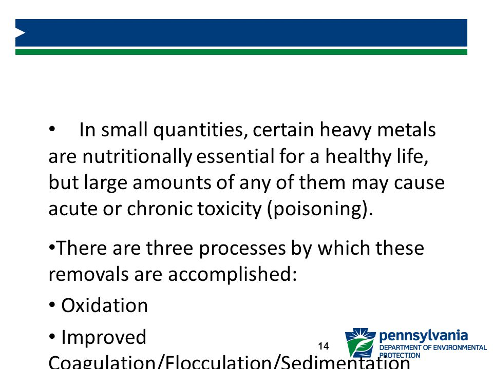 Removal of Trace Elements and Heavy Metals