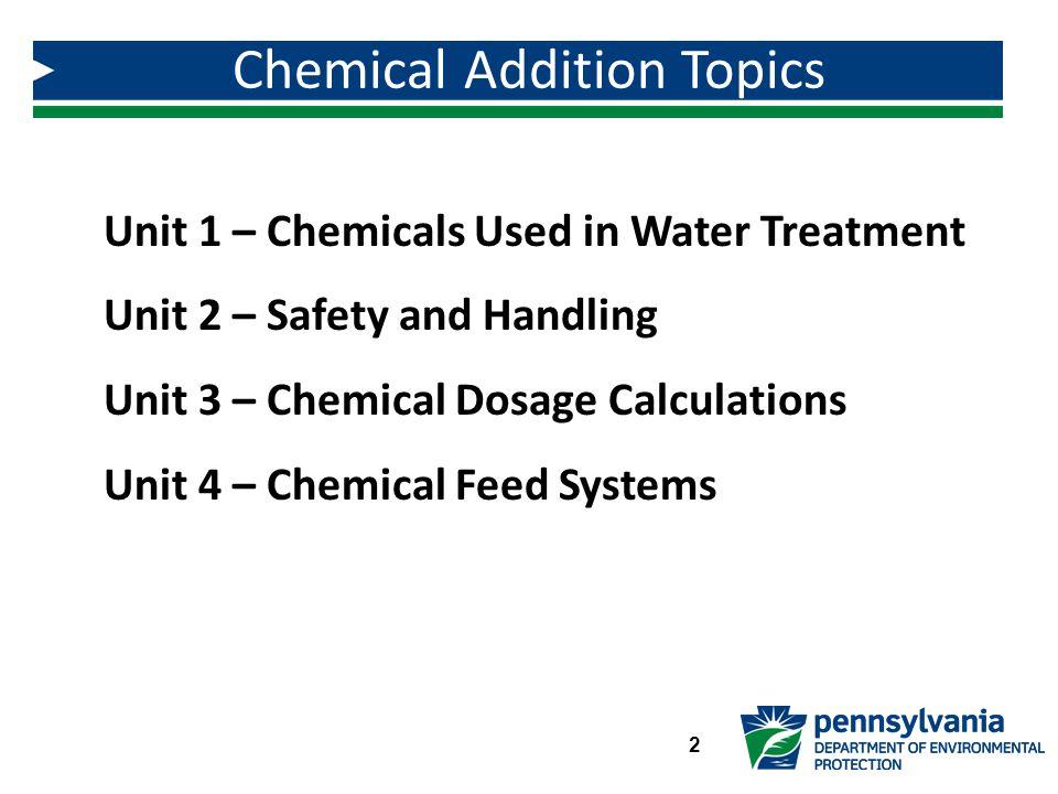 Chemical Addition Topics