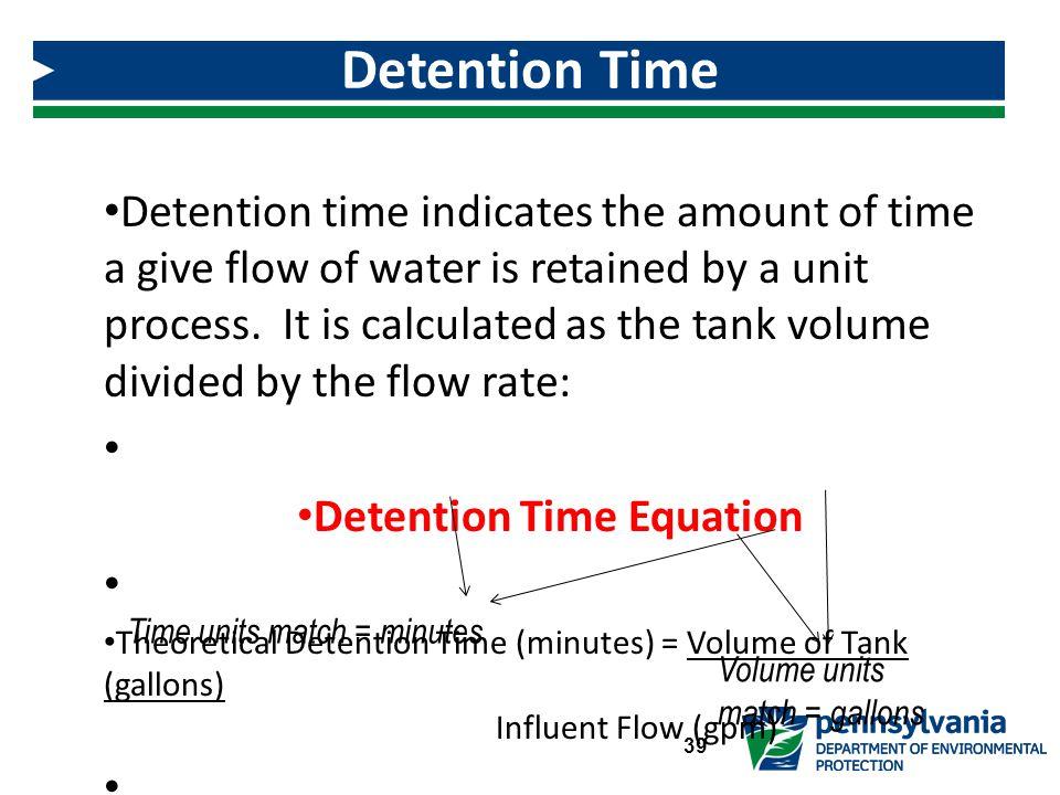 Detention Time Equation