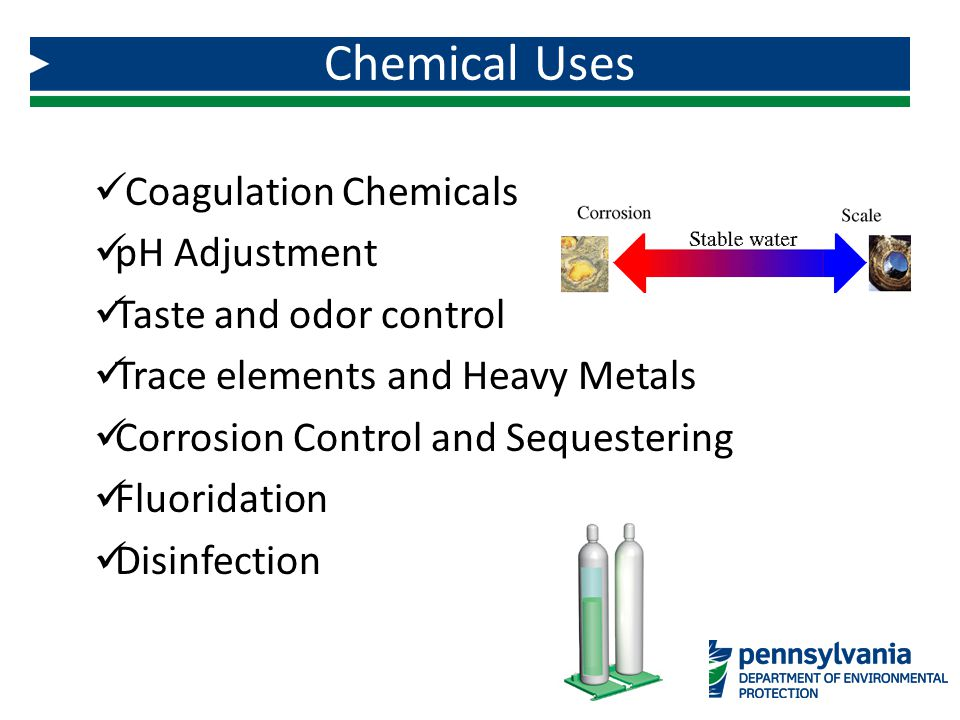Chemical Uses Coagulation Chemicals pH Adjustment