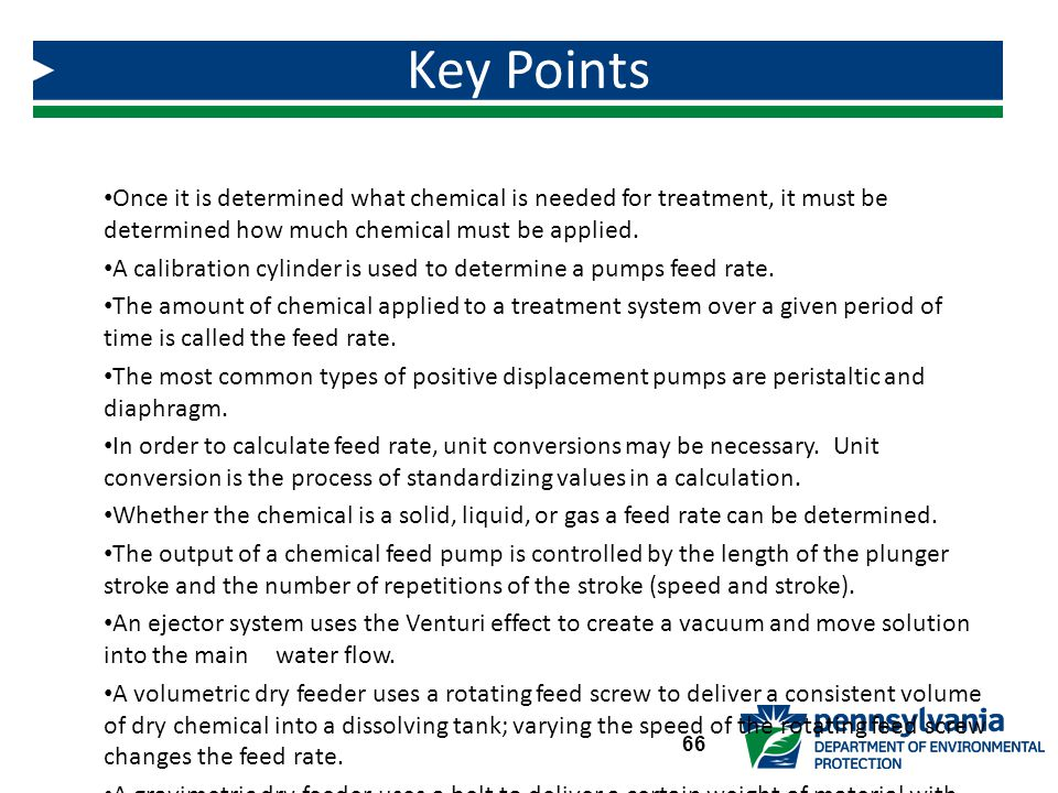 Key Points Once it is determined what chemical is needed for treatment, it must be determined how much chemical must be applied.