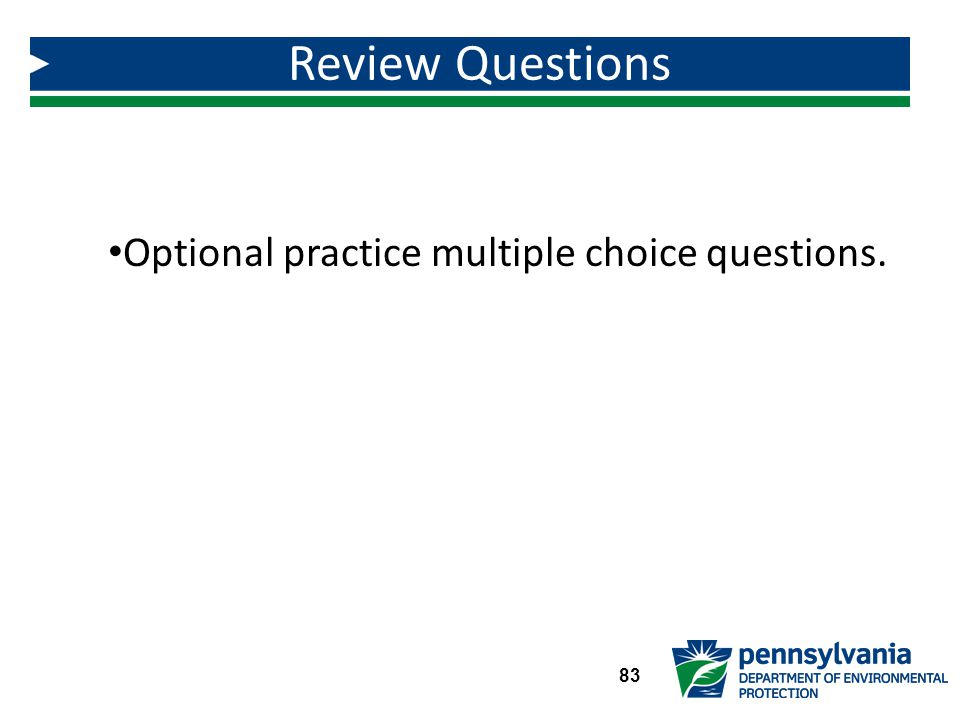Optional practice multiple choice questions.