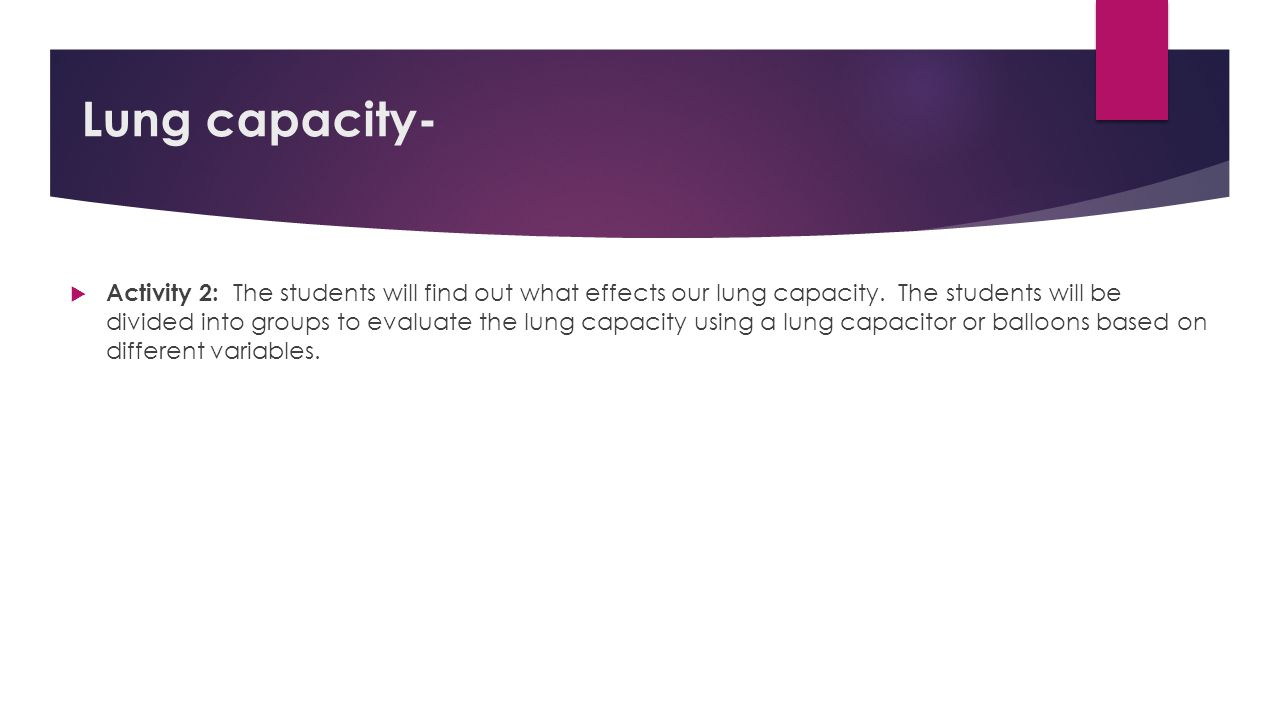 Lung capacity-