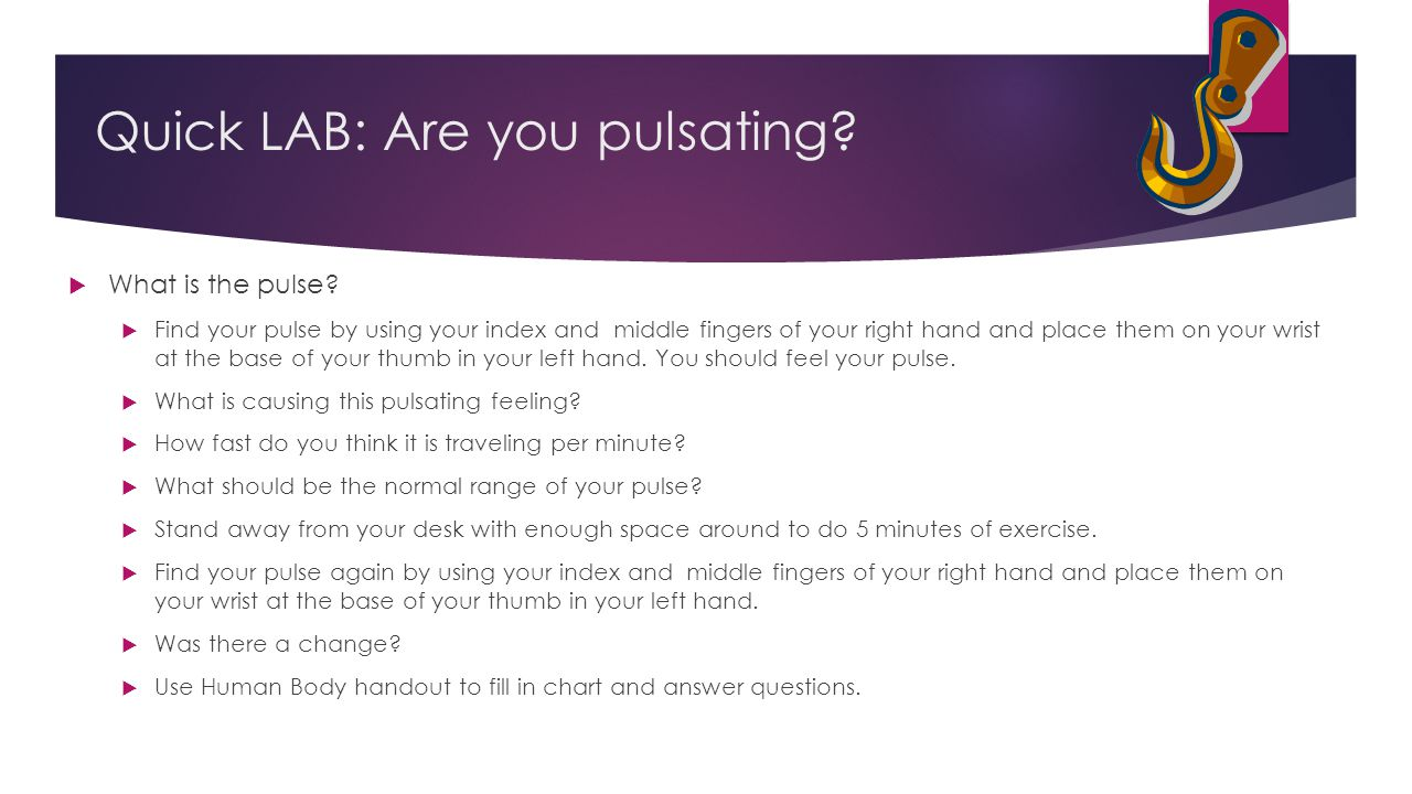 Quick LAB: Are you pulsating