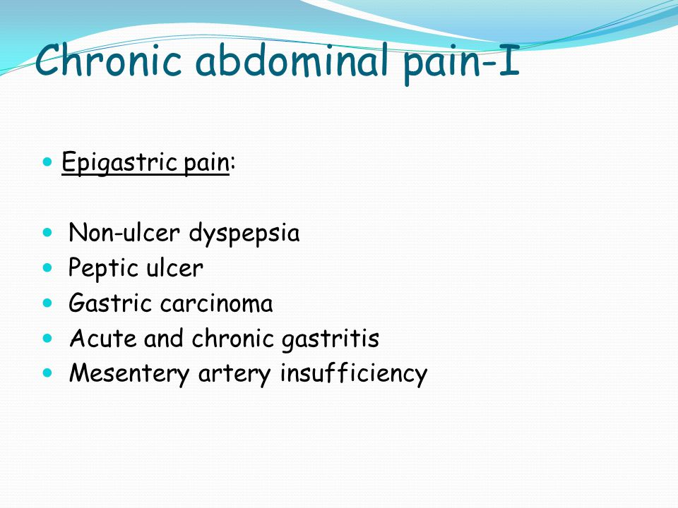 Chronic abdominal pain-I