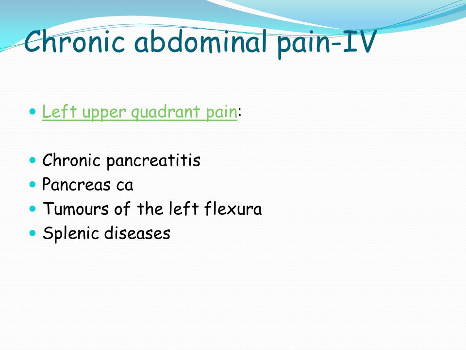 Chronic abdominal pain-IV