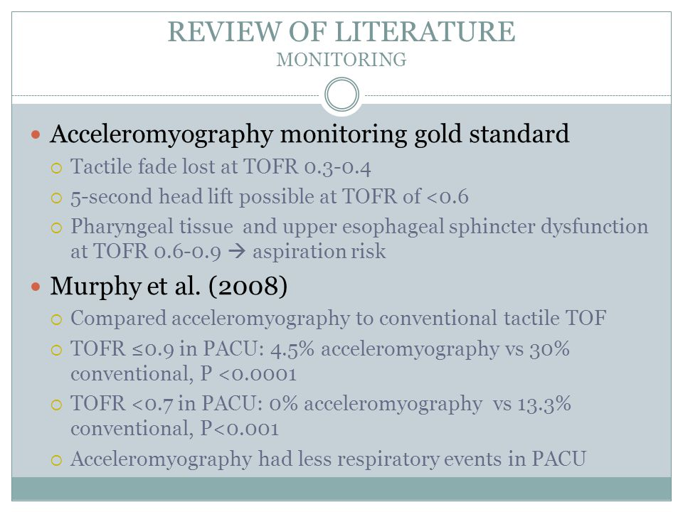 REVIEW OF LITERATURE MONITORING