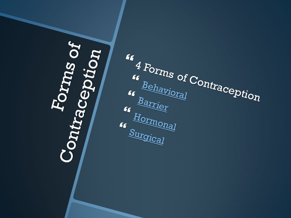 Forms of Contraception