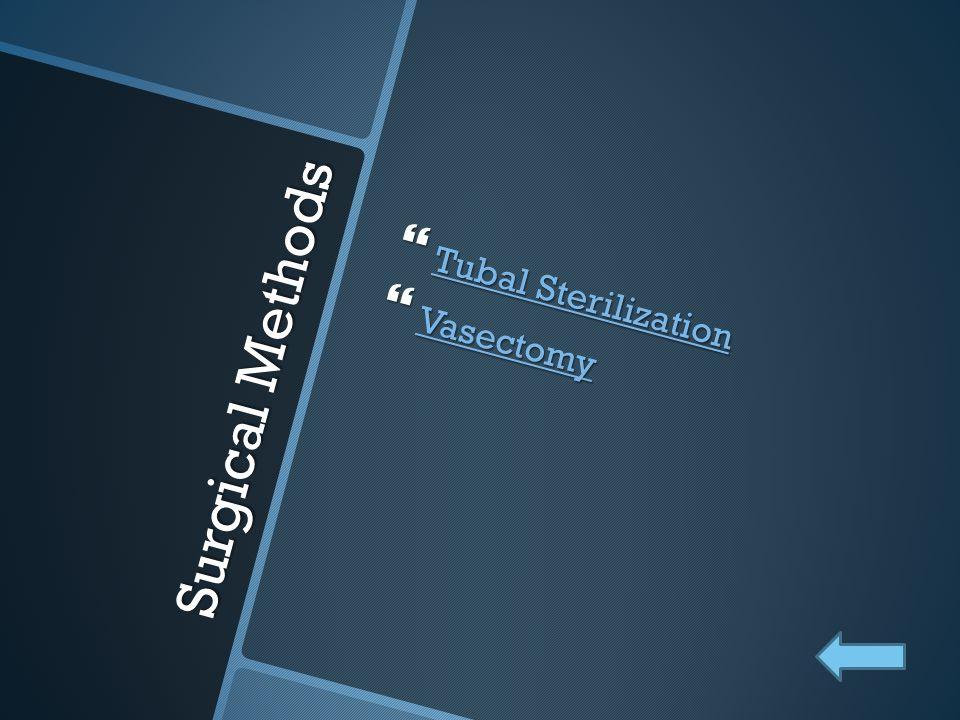 Tubal Sterilization Vasectomy Surgical Methods