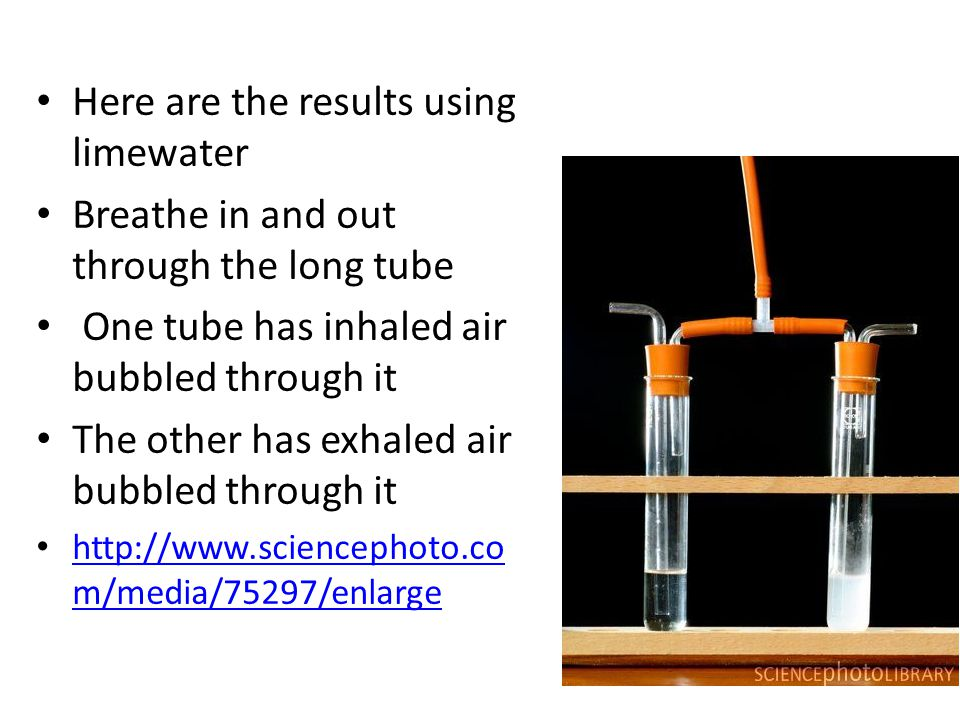 Here are the results using limewater