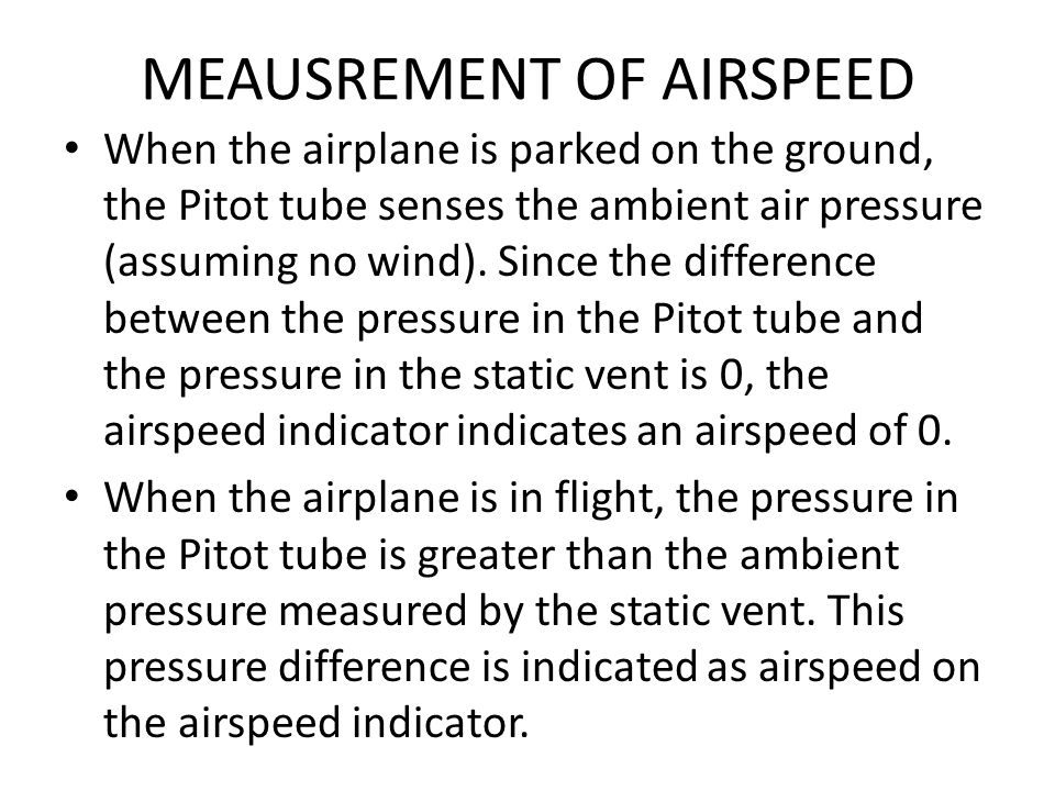 MEAUSREMENT OF AIRSPEED