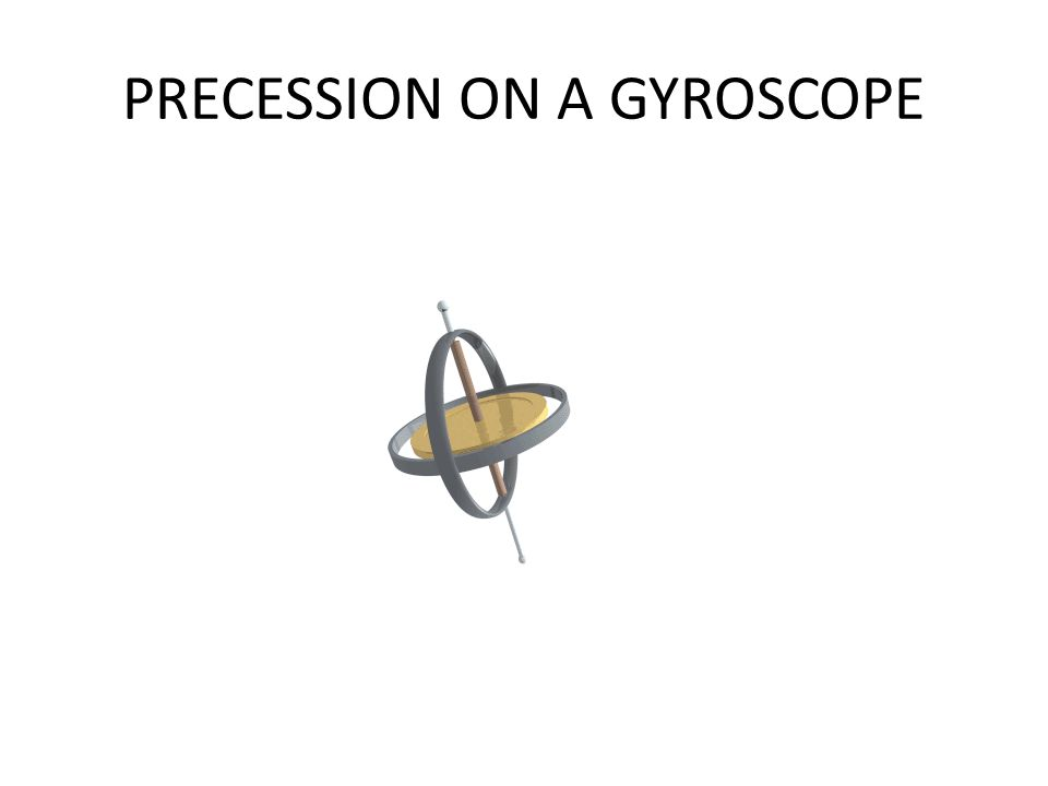 PRECESSION ON A GYROSCOPE