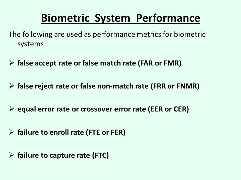 Biometric System Performance