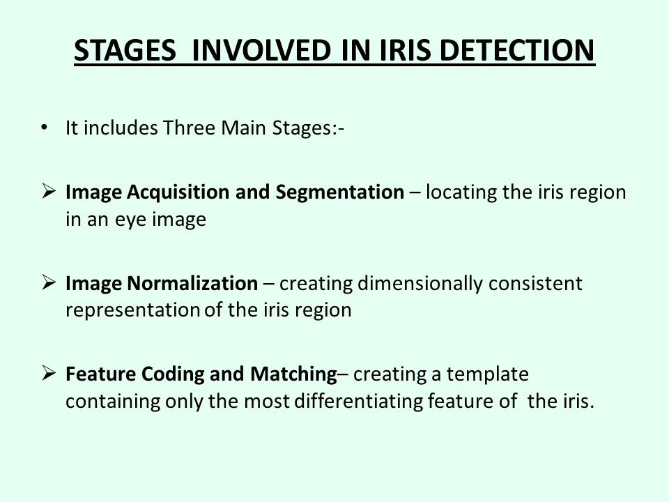 STAGES INVOLVED IN IRIS DETECTION