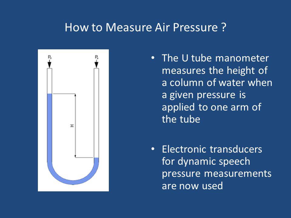 How to Measure Air Pressure