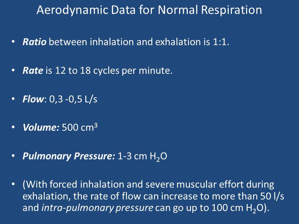 Aerodynamic Data for Normal Respiration