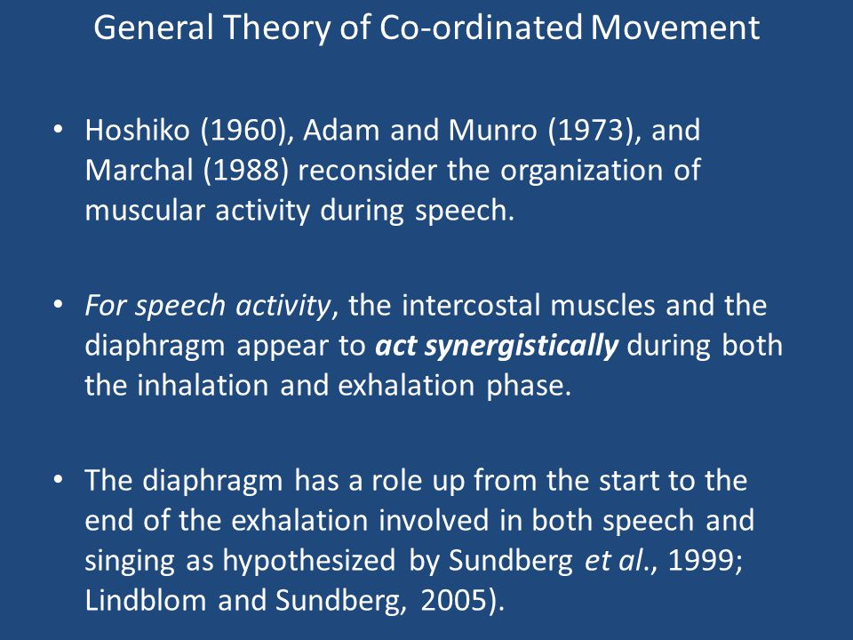 General Theory of Co-ordinated Movement